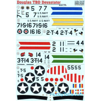 Decal 1/72 for Douglas TBD Devastator