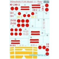 "Decal 1/72 for Mitsubishi F1M Model 11 ""Pete"""
