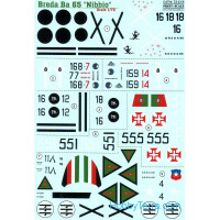 Decal 1/72 for Iranian Breda Ba 65 Nibbio
