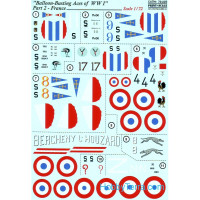 Decal 1/72 for Balloon-Busting Aces of WWI, Part 2 - France