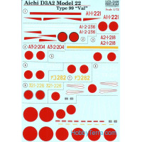 Decal 1/72 for Aichi D3A2 model 22