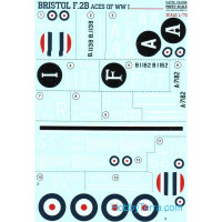 Decal 1/72 for Bristol F.2B Aces of WWI
