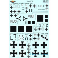 Decal 1/72 for Albatros D.I & D.II Aces of WWI