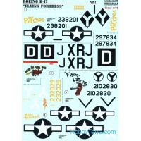 Decal 1/72 for B-17 Flying Fortress