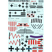 Decal 1/72 for Pfalz D.III, Aces of World War I