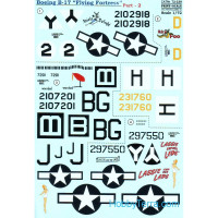Decal 1/72 for Boeing B-17 Flying Fortress, Part 2