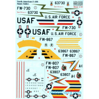 "Decal 1/72 for F-100 ""Super Sabre"""