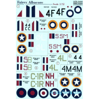 Decal 1/72 for Fairey Albacore