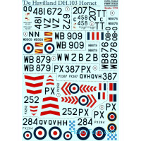"Decal 1/72 for De Havilland DH.103 ""Hornet"""