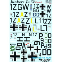 Decal 1/72 for Junkers Ju 52, Part 2