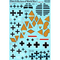 Decal 1/72 for Pfalz D.IIIa Aces of World War I
