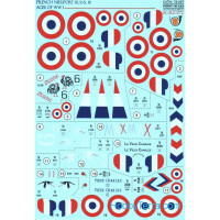 Decal 1/72 for French Nieuport 10, 11, 16
