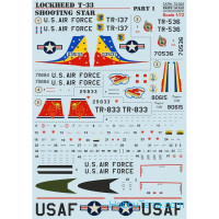 "Decal 1/72 for Lockheed T-33 ""Shooting Star"", Part 1"