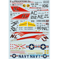 Decal 1/72 for US Navy F-4 Phantom IIs, Part 1