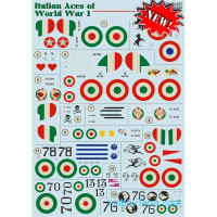 "Decal 1/72 for Nieuport 17 ""Italian Aces of WW I"", Part 1"