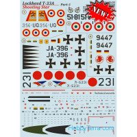 "Decal 1/72 for Lockheed T-33A ""Shooting Star"", Part 3"