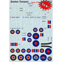 Decal 1/72 for Hawker Tempest