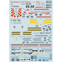 Decal 1/72 for F-14 Tomcat, Part 2