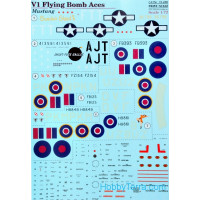 "Decal 1/72 for Mustang V1 ""Flying Bomb Aces"""