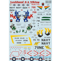 Decal 1/72 for Lockheed S-3 Viking