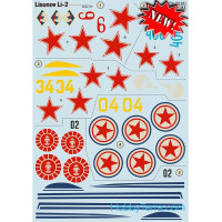 Decal 1/72 for Lisunov Li-2