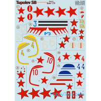 Decal 1/72 for Tupolev SB, Part 2