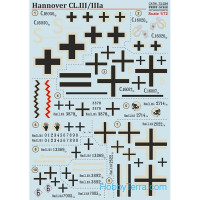 Decal 1/72 for Hannover CL.lll/llla