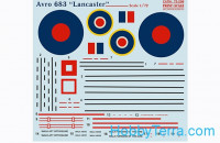 Decal 1/72 for Avro 683 Lancaster