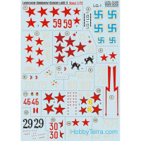 Decal 1/72 for Lavochkin LaGG-3