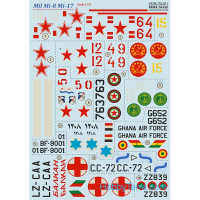 Decal 1/72 for Mill Mi-8/Mi-17