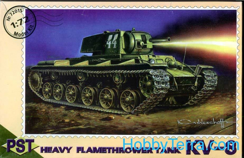 KV-8 WWII Soviet flame-thrower tank