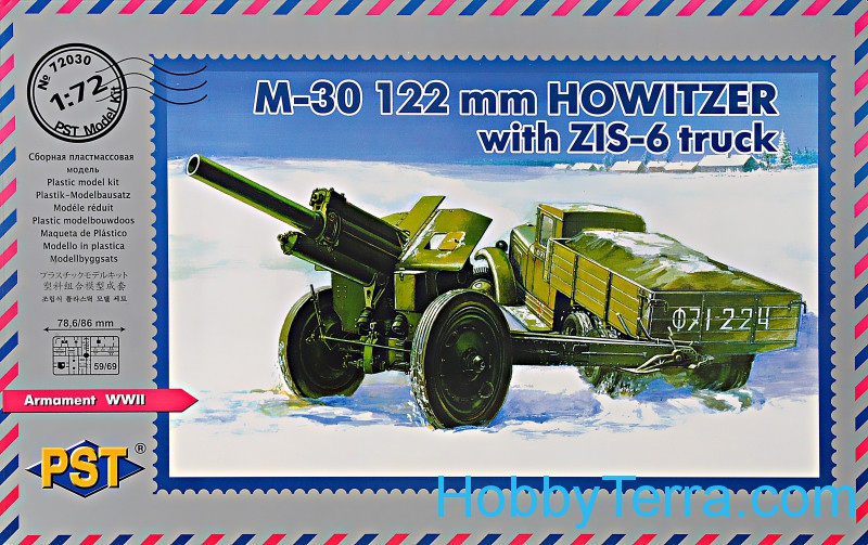 PST  72030 M-30 122mm howitzer with ZiS-6 truck