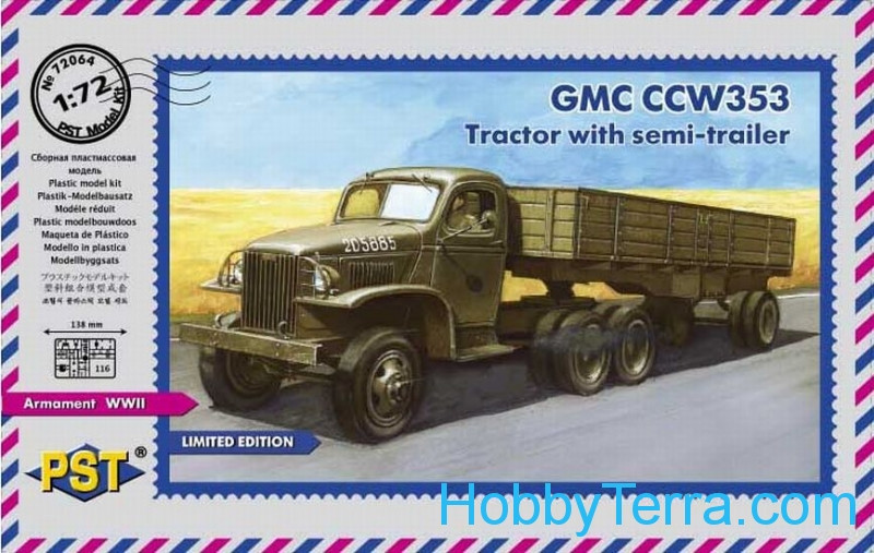 PST  72064 GMC CCW 353 Australian tractor with semitrailer
