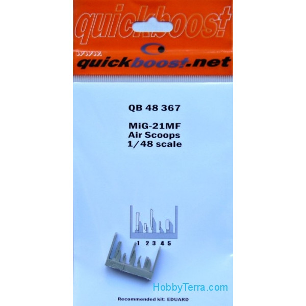 Quickboost  48367 MiG-21MF Air scoops