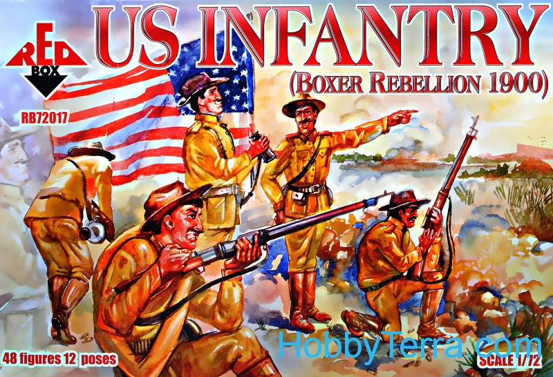 Red Box  72017 US Infantry, Boxer Rebellion 1900