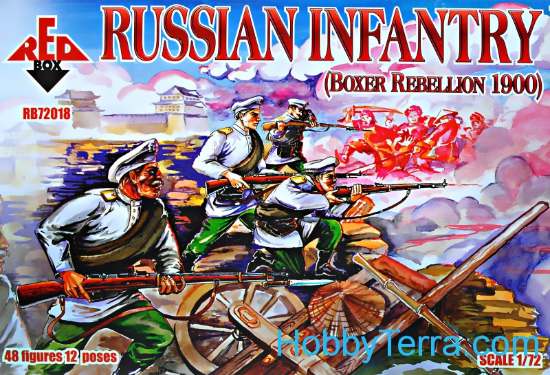 Red Box  72018 Russian Infantry, Boxer Rebellion 1900
