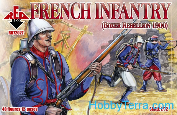 Red Box  72027 French infantry, Boxer Rebellion 1900