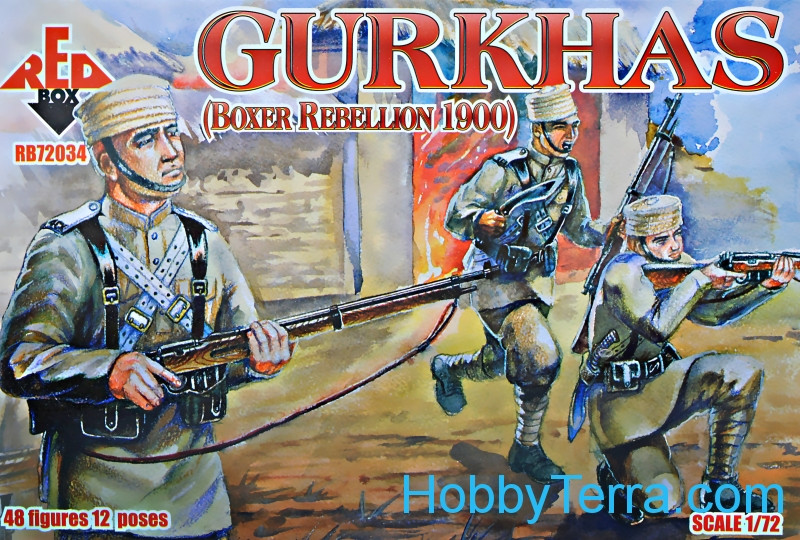 Red Box  72034 Gurkhas, Boxer Rebellion 1900