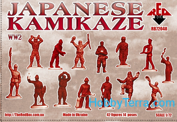 WW2 Japanese Kamikaze 1/72 figures kit Red Box 72048 ...