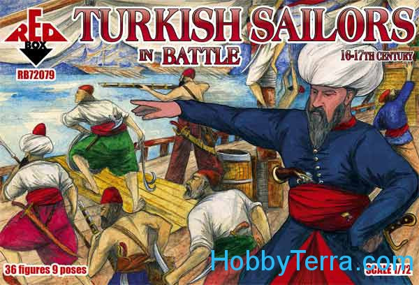 Turkish sailors in battle, 16-17th century