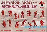 WW2 Japanese Army Aviation pilots and ground crew