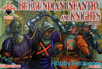 Burgundian infantry and knights, 15th century, set 2