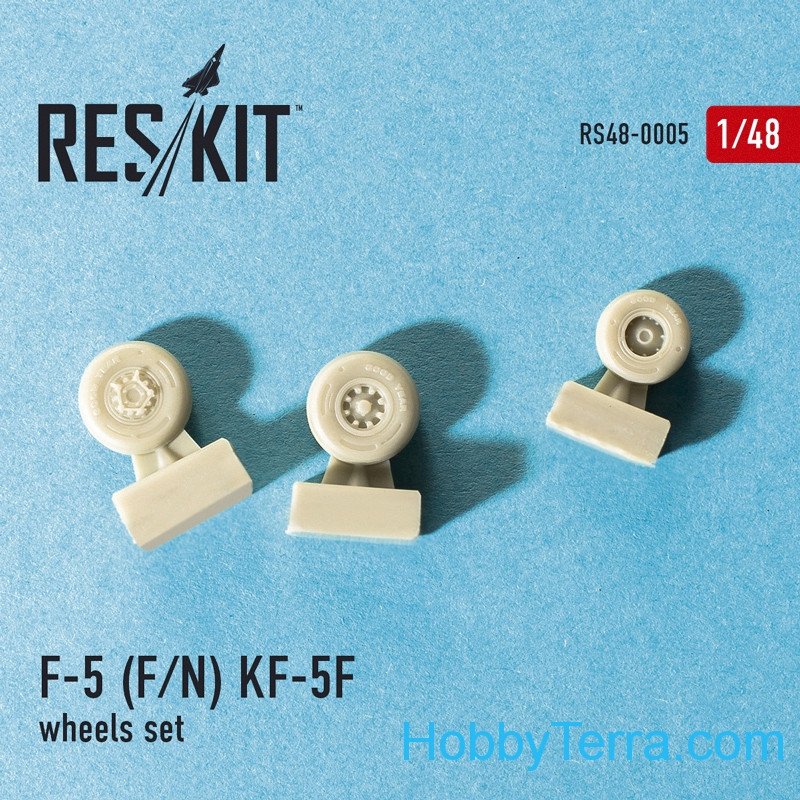 Wheels set 1/48 for F-5 (F/N) KF-5F