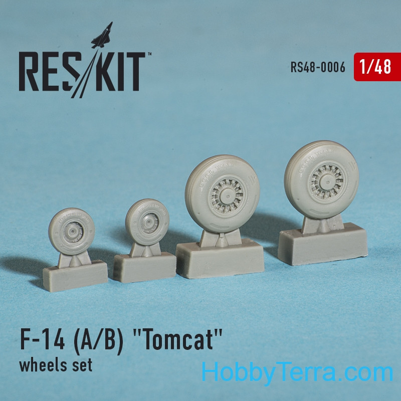 Wheels set 1/48 for F-14 (A/B) Tomcat