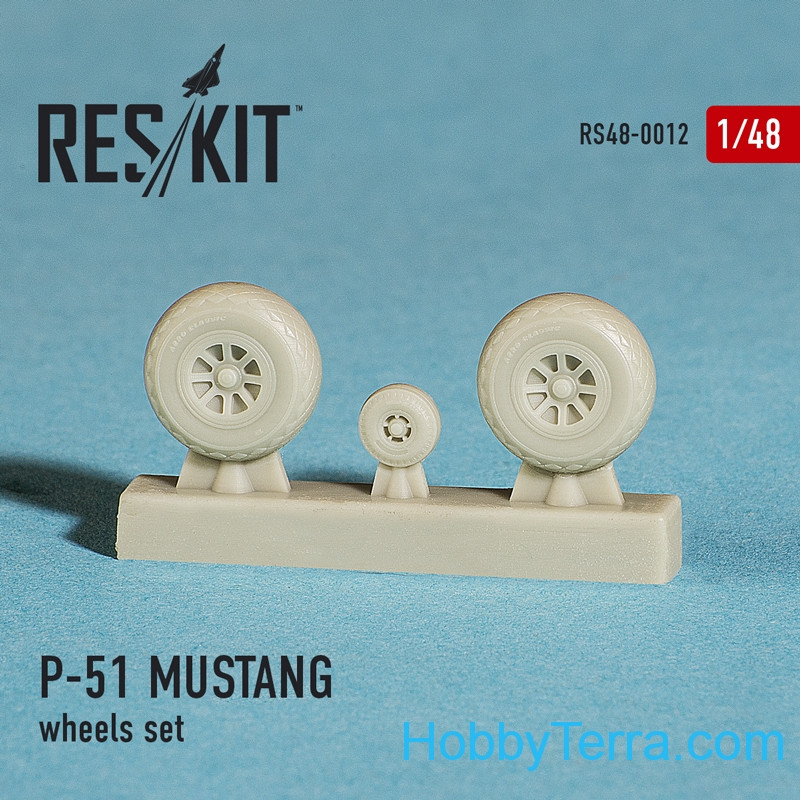 Wheels set 1/48 for P-51 Mustang