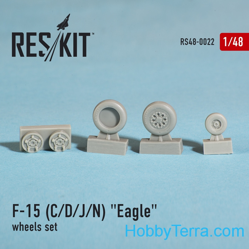 Wheels set 1/48 for F-15 (C/D/J/N) Eagle