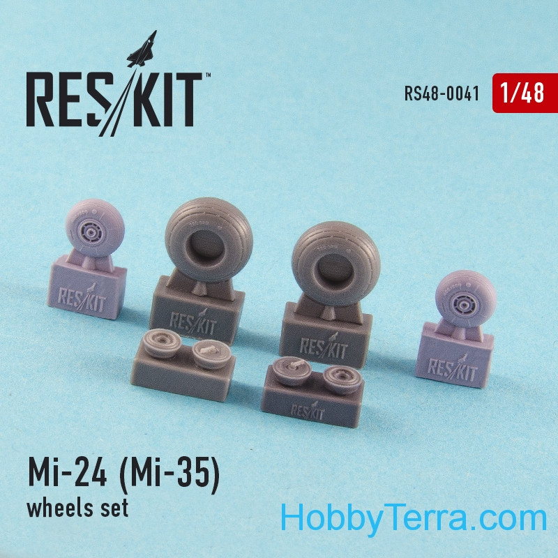 Wheels set 1/48 for Mi-24 (Mi-35), for Revell kit