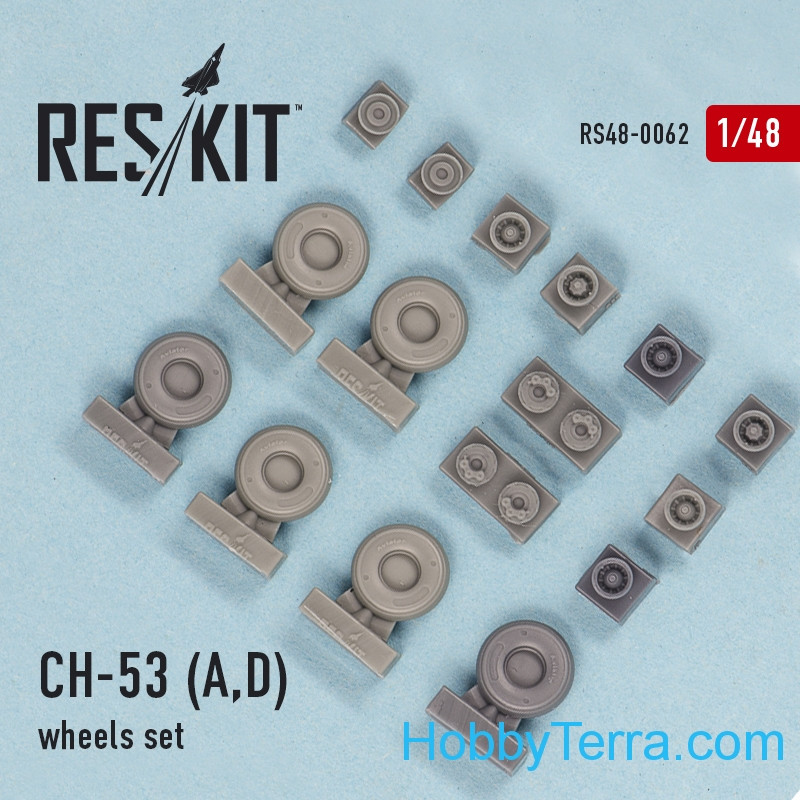 Wheels set 1/48 for CH-53 A/D