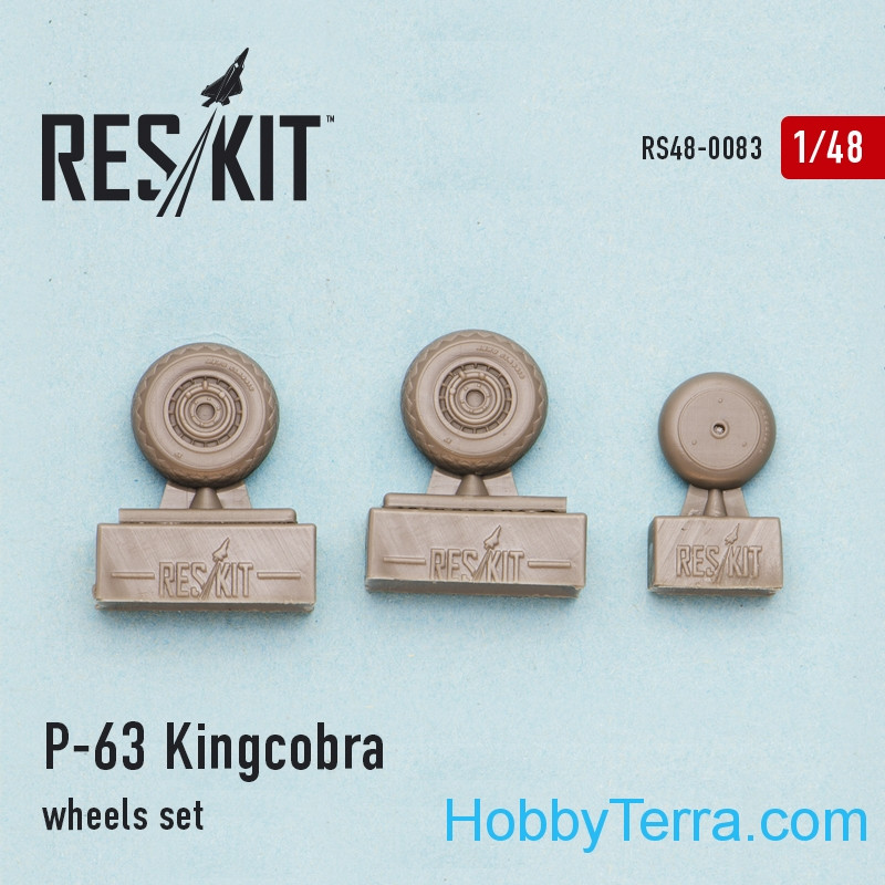 "Wheels set 1/48 for P-63 ""Kingcobra"""