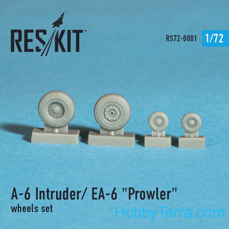 Wheels set 1/72 for A-6 Intruder / EA-6 Prowler